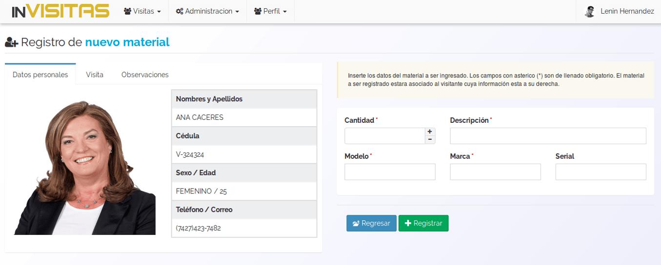 inVisitas - Registro y control de visitantes a empresas