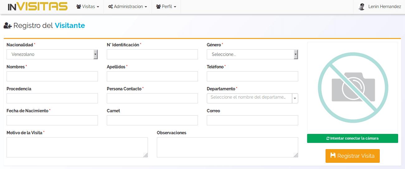inVisitas - Software de registro y control de visitantes