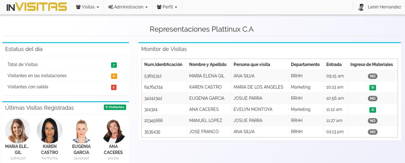 inVisitas - Software registro y control de visitas